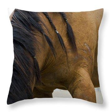 Throw Pillow featuring the photograph War Horse by Lorraine Devon Wilke