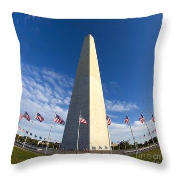 Washington Monument Throw Pillow by Dustin K Ryan