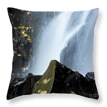 Waterfall In Auvergne Throw Pillow by Bernard Jaubert