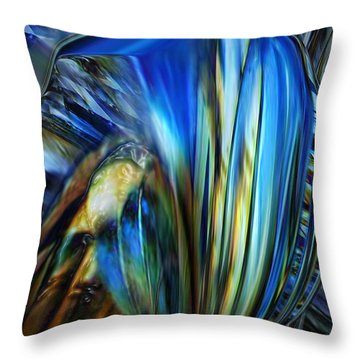 Throw Pillow featuring the digital art Wealth Weary by Steve Sperry