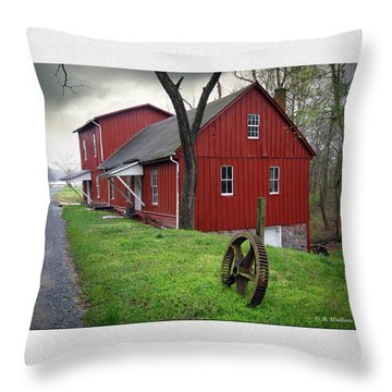 Williston Mill Throw Pillow by Brian Wallace