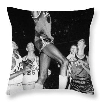 Wilt Chamberlain (1936-1999) Throw Pillow by Granger
