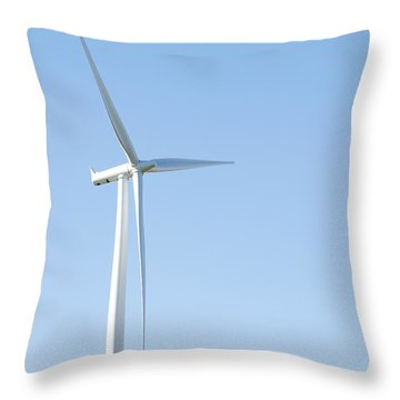 Wind Turbine  Throw Pillow by Les Cunliffe