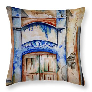 Window From Santiago Throw Pillow