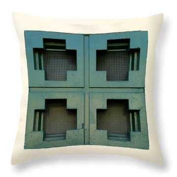 Windows Throw Pillow by Henrik Lehnerer