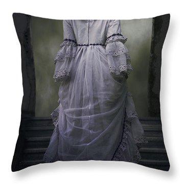 Woman On Steps Throw Pillow by Joana Kruse