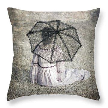Woman On Street Throw Pillow by Joana Kruse