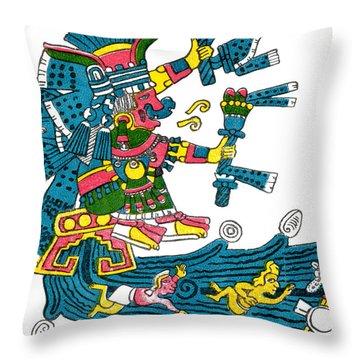 Xochiquetzal, Aztec Goddess Of Beauty & Throw Pillow by Photo Researchers