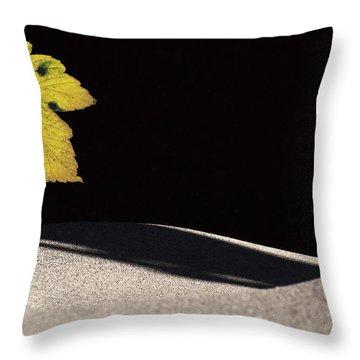 Yellow Leaf Throw Pillow by Michael Mogensen
