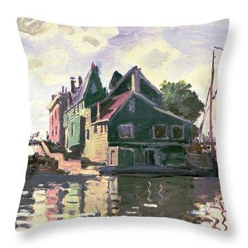 Zaandam Throw Pillow by Claude Monet
