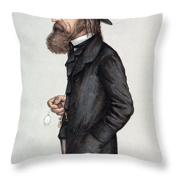 Alfred Tennyson (1809-1892) Throw Pillow by Granger