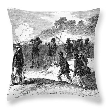 Civil War: Black Troops Throw Pillow by Granger