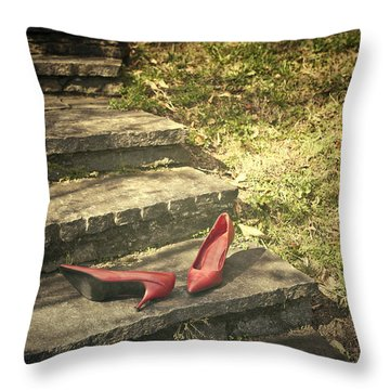 Pumps Throw Pillow by Joana Kruse