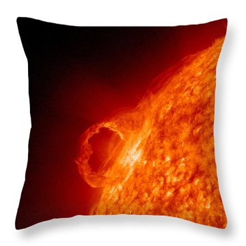 Solar Prominence Throw Pillow by Science Source