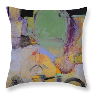 Throw Pillow featuring the painting 10th Street Bass Hole by Cliff Spohn
