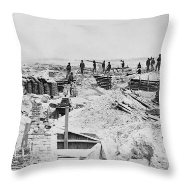 Civil War: Petersburg Throw Pillow by Granger