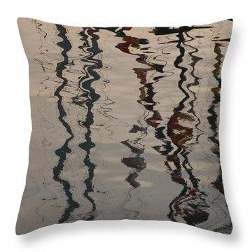 Port Huron To Mackinac Race Throw Pillow by Randy J Heath