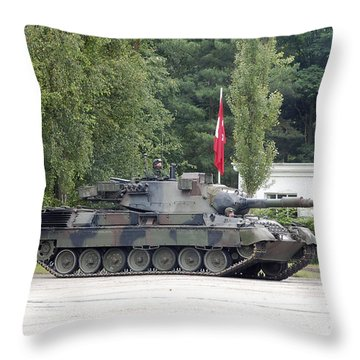 The Leopard 1a5 Of The Belgian Army Throw Pillow by Luc De Jaeger
