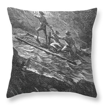 Verne: Journey Throw Pillow by Granger