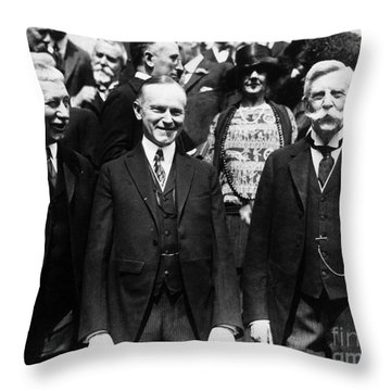 Calvin Coolidge (1872-1933) Throw Pillow