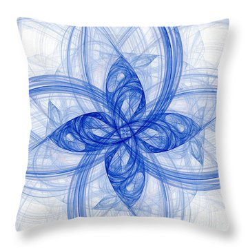 Fractal Image Throw Pillow by Ted Kinsman