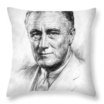 Franklin Delano Roosevelt Throw Pillow by Granger