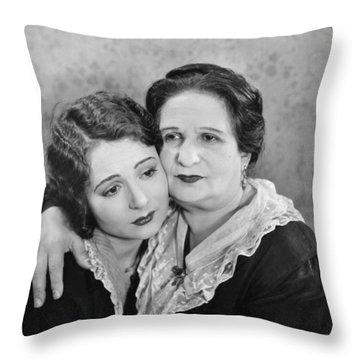 Silent Film Still: Women Throw Pillow by Granger