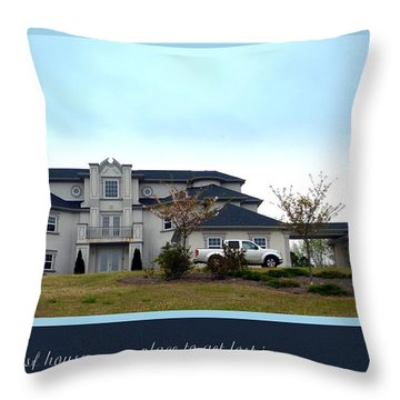 12000 Sf House Throw Pillow by Renee Trenholm