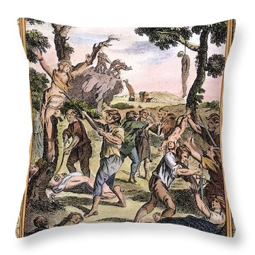 Foxe: Book Of Martyrs Throw Pillow by Granger