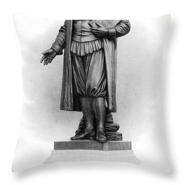 Roger Williams (1603-1683) Throw Pillow by Granger