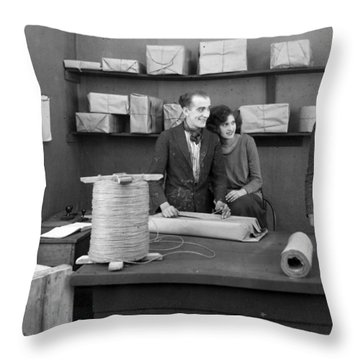 Silent Film Still: Offices Throw Pillow by Granger