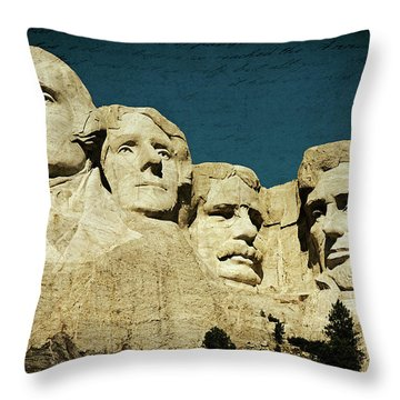 150 Years Of American History Throw Pillow