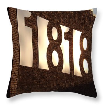 Throw Pillow featuring the photograph 1818 Shine by Elizabeth Sullivan
