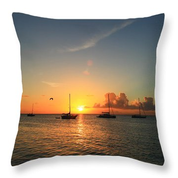 Throw Pillow featuring the photograph Sunset by Catie Canetti