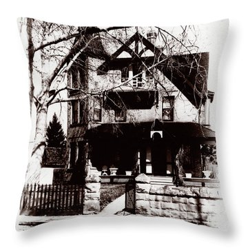 1900 Home Throw Pillow by Marcin and Dawid Witukiewicz