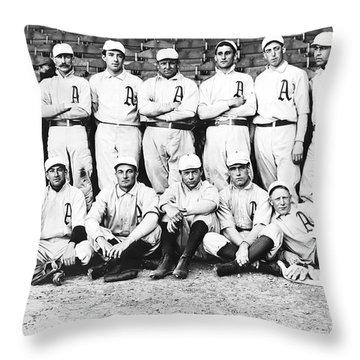1902 Philadelphia Athletics Throw Pillow by Bill Cannon