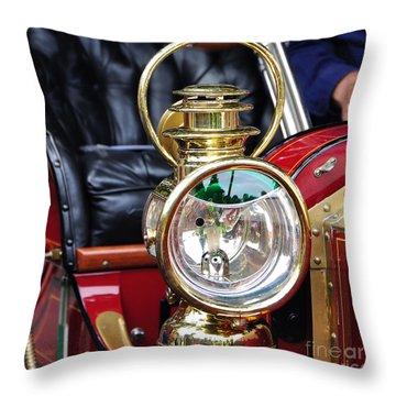 1907 Stanley Steamer - Lantern Throw Pillow by Kaye Menner