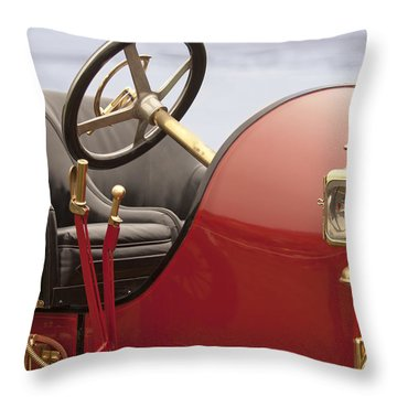 1910 Mercer Speedster Throw Pillow by Jill Reger