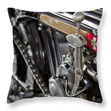 1923 Condor Motorcycle Throw Pillow