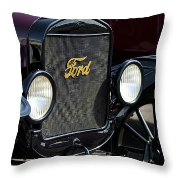 1925 Ford Model T Coupe Grille Throw Pillow by Jill Reger