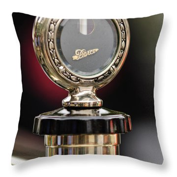 1927 Pierce-arrow Limousine Motometer Hood Ornament Throw Pillow by Jill Reger
