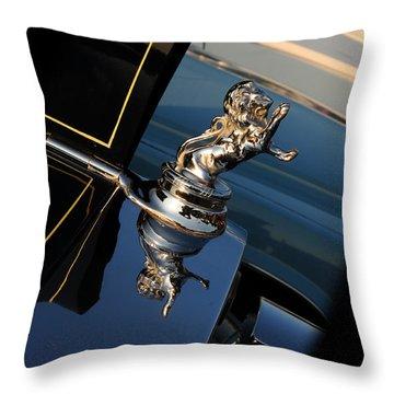 1928 Franklin Sedan Hood Ornament Throw Pillow by Paul Ward
