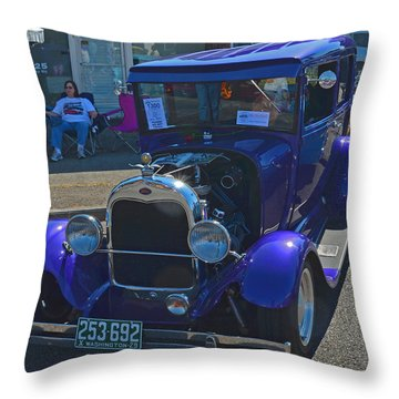 Throw Pillow featuring the photograph 1929 Ford Model A by Tikvah's Hope
