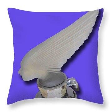 1929 Pierce Arrow Mascot Throw Pillow by Jack Pumphrey