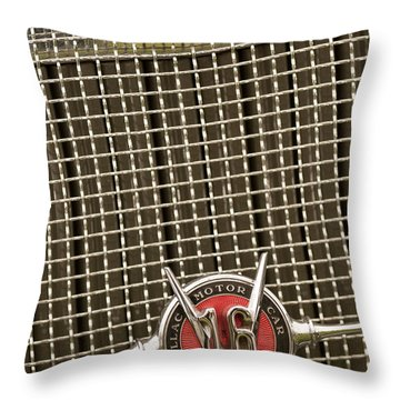 1930 Cadillac 452 Fleetwood Grille Emblem Throw Pillow by Jill Reger