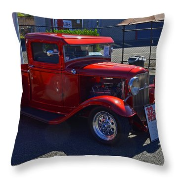 Throw Pillow featuring the photograph 1932 Ford Pick Up by Tikvah's Hope