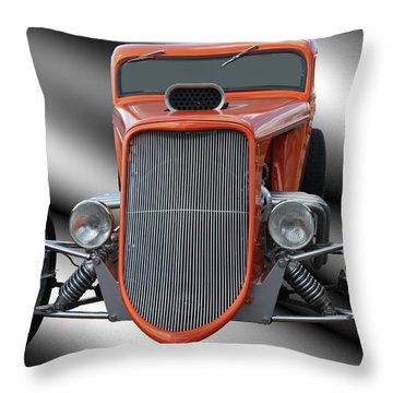 1933 Ford Roadster - Hotrod Version Of Scream Throw Pillow