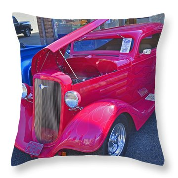 Throw Pillow featuring the photograph 1934 Chevy Coupe by Tikvah's Hope