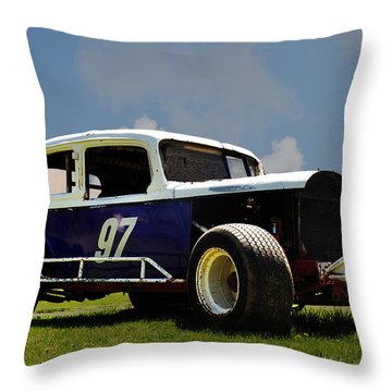 1934 Ford Stock Car Throw Pillow by Bill Cannon