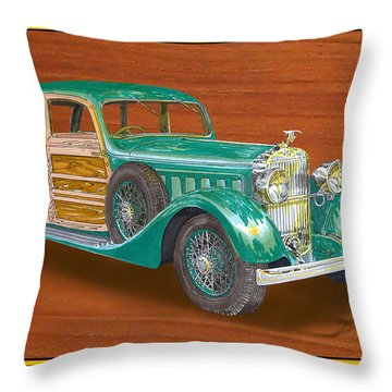 1934 Hispanosuzia Shooting Brake Throw Pillow by Jack Pumphrey